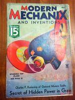 MODERN MECHANIX MAGAZINE MAY 1935 SECRETS OF HIDDEN POWER IN GRASS