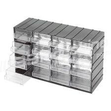 Cassettiera porta minuteria 24 cassetti trasparenti 33x16x18 cm organizer
