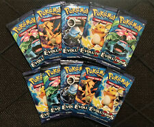 Pokemon XY EVOLUTIONS Booster Pack Lot of 10 - Factory Sealed From Box Cards FS