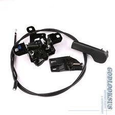 Set 4 Hood Lock + Pull Cable + Release Handle + Bracket For VW Golf Jetta MK4