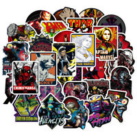 100Pcs/Lot MARVEL Avengers Super Hero Stickers For Car Laptop Skatboard Decal