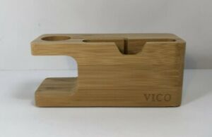 Vico Bamboo Bracket Docking Station Cradle Holder for iPhone & Apple Watch