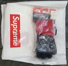 Supreme X The North Face Leather Gloves RED-BLACK SIZE MEDIUM IN HAND!