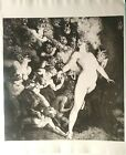 """NORMAN LINDSAY NUDE ETCHING PHOTO REPRODUCTIONS (2), VINTAGE 1920s 16x20"""" MINT"""