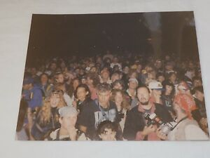 """Nighttime Partying Fans 1989 Woodstock festival unpublished Color Photo 8""""x10"""""""