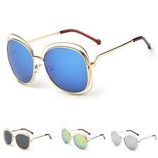 Mujer Moda Retro Diseño Gafas de sol metálicas LENTE ESPEJADA gafas gafas