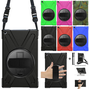 For Amazon Kindle Fire HD10 2019 2018 2017 Heavy Duty Rotating Stand Case Cover