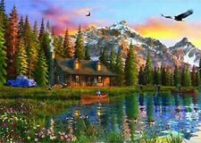 Anatolian Oldlook Cabin 2000 Piece Scenic Mountain Landscape Jigsaw Puzzle