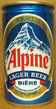 Alpine Biere Lager Beer Can with Mountains, Moosehead Breweries, Canada Grade 1+