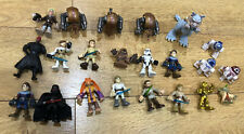 21 X playskool galactic heroes star wars Figures  Darth Vader Luke Obi Wan Yoda