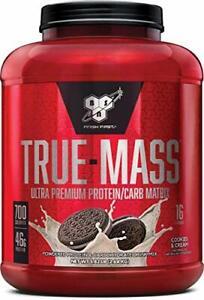 BSN TRUE MASS / TRUEMASS (2.6KG TUB) Cookies & Cream- Expiry Feb 2021