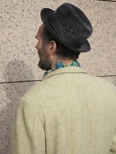 Seal Herren Hut hat schwarz grau 60er True VINTAGE 60´s men black grey mütze