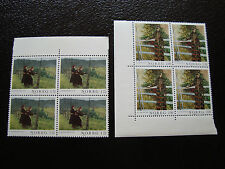 NORVEGE  - timbre yvert et tellier n° 823 824 x4 n** (A13) stamp norway