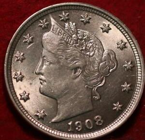 Uncirculated 1908 Philadelphia Mint Liberty Nickel