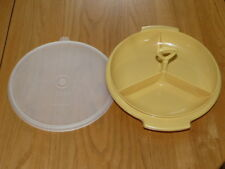 Vintage Tupperware Condiment Caddy with Lid - 608-12