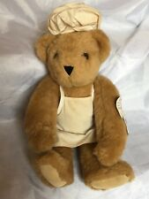 Vermont Teddy Bear with Chef Outfit Apron and Chef Hat 1990's Vintage