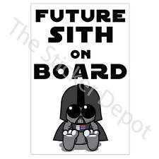 Star Wars Darth Vader Future Sith on Board Vinyl Sticker Baby on Board