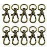 Swivel Trigger Clips Snap Hooks Lobster Clasp Keychain Bag DIY Craft Key 10Pcs