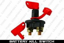 New 12V Racing Power Cut Off Switch Breaker Isolater, TWO Keys Included