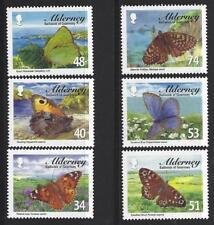 Alderney 2008 Alderney Mariposas Nuevo sin montar, MNH