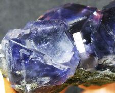 39g GEM super blue/purple Fluorite&Quartz crystal mineral specimen