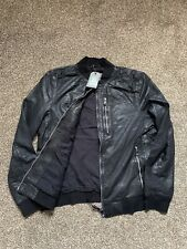 🆕All Saints KINO Leather Bomber jacket BLACK Size 2XL BRAND NEW WITH TAGS