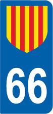1 Sticker style plaque AUTO adhésif département 66 PAYS CATALAN