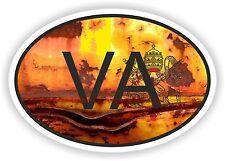 Drapeau VATICAN ovale avec code pays va autocollant vintage vieux look RUSTY Rétro