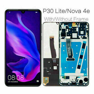 For Huawei P20 Lite/P30 Lite/Nova 3e /Nova 4e LCD Touch Screen Digitizer + Frame