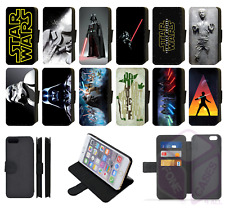 STAR WARS DARTH VADER LUKE SKYWALKER Wallet Flip Phone Case iPhone ALL models