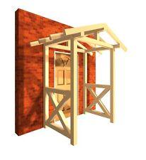 Haustürvordach KVH Türüberdachung Haustür Haus Heimwerken Garten Regenschutz