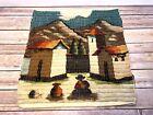 Vtg Peruvian Peru Wool Tapestry Hand Woven ART Wall Hanging Southwestern Village