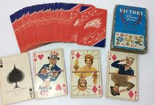 Victory Playing Cards Arrco Vtg World War II Pinochle Deck Navy Army No Jokers