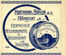 Hartmann & Braun AG Frankf. A.M. strumenti elettrici la pubblicità storica 1913