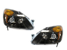 DEPO 02-04 HONDA CRV CR-V BLACK PROJECTOR HEADLIGHTS DOT / SAE NEW PAIR JDM