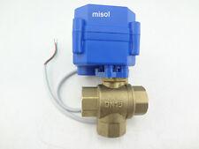 Motorkugelhahn Ventil 3 way motorized ball valve DN15(Reduce port),12V L port