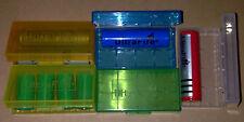 5 x UltraFire Custodie Plastica rigida - porta batterie litio box 18650 16340