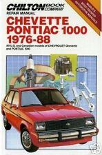 Chevette/Pontiac 1000 1976-88 Chilton Riparazione/Officina Manuale 6836