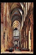 Tuck art sign Flower Cologne Cathedral interior Der Kolner Dom Germany postcard
