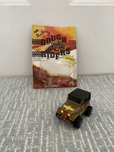 LJN Rough Riders JEEP 4X4 6210 Gold Eagle Jeep Toy car 80s For parts or Repair