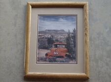 Patrick H. Boles wood framed matted old abandoned pickup truck body picture