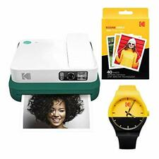 KODAK Smile Classic Digital Instant Camera with Bluetooth (Green) Watch Bundle