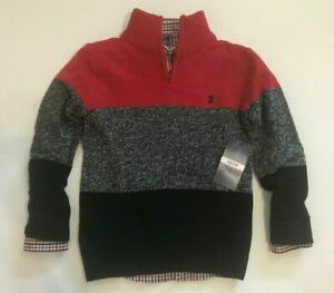 Izod Boy's 2-Piece Sweater Set, 1/4 Zip and Shirt - Choose Color & Size - NWT
