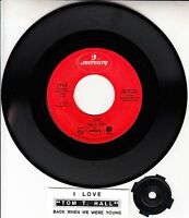 """TOM T. HALL  I Love & Back When We Were Young 7"""" 45 record NEW + juke box strip"""