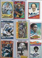 Dallas Cowboys Vintage Lot (35) Different w/ Rookies Staubach Aikman Smith Irvin