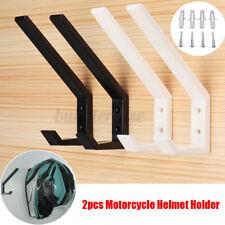 4/8Pcs Motorcycle Helmet Holder Hook Jacket Bags Wall Mount Display Rack Hanger