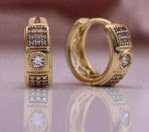 18K REAL ROSE GOLD FILLED LONG HOOP EARRINGS MADE WITH SWAROVSKI CRYSTALS RG61