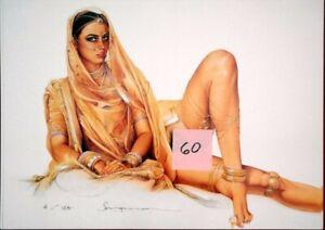 SORAYAMA #60 Litho Print Harem Pinup in Gold #70/125, 17x24