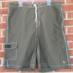 Vintage Polo Sport Ralph Lauren Swim Trunks Mens Sz XXL Olive Green