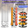 36 Capsule Coffee Pod Holder Tower Stand Revolving Chrome Rack For Dolce Gusto